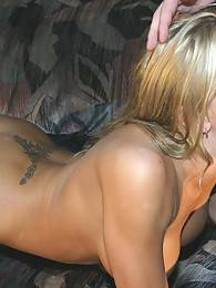 Briana Banks deepthroats a hard cock and takes it up her tight pussy