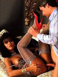 Chinese retro hooker fucked by a white big seventies dick