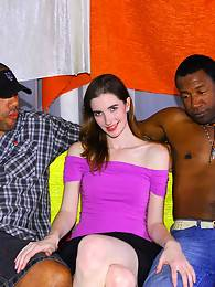 Mia is a married swingin' brunette MILF who's husband loves the idea of watching her tight twat get trampled by the Insane Cock Brothas' tackle. She can't wait to get a taste of them either but her craving for big black cock's much bigger than her beaver.