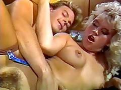 Sexy hairy seventies blonde fucked and receives a cumload