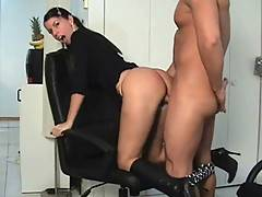 In this movie watch me getting doggy style fuck on my office chair then face cumshot!