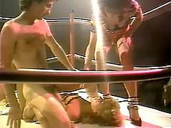 Eighties championship deepthroat cock swallowing in the ring