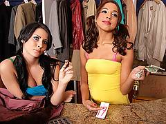 Madison and Veronique have had a long day and no one is tipping well, so they decide to coat check for any hard cash. Johnny Sins walks in on them sneaking into his wallet and decides to teach them a lesson never to stick their noses in the wrong places.