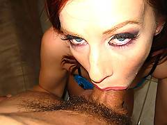 Shocking huge cock interracial and petite busty amateur red head and extreme deepthroat red head and huge ass hardcore at a party