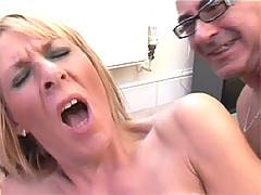Hot busty UK street milf receiving an internal anal creampie