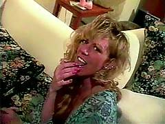 Retro wife helps husband with fucking her black girlfriend