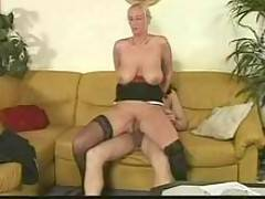 Skinny Blonde In Cumeating Interracial DP By Poolxxx