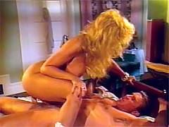 Busty seventies lady fucked and jizzed on her big boobies