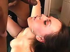 Carolina gets her butt hole fucked till facial