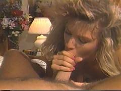 Retro footage of a horny girl sucking and fucking like mad