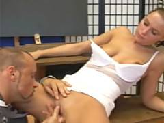 Alluring bitch Veronika gets her wet and tight pussy fingerfucked