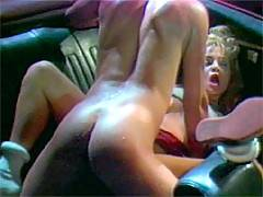 Hairy seventies blonde enjoys a good fucking in a drive in